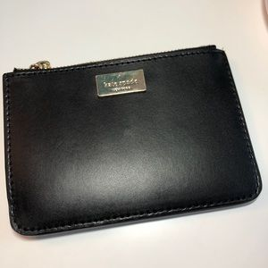 Kate Spade black leather card case
